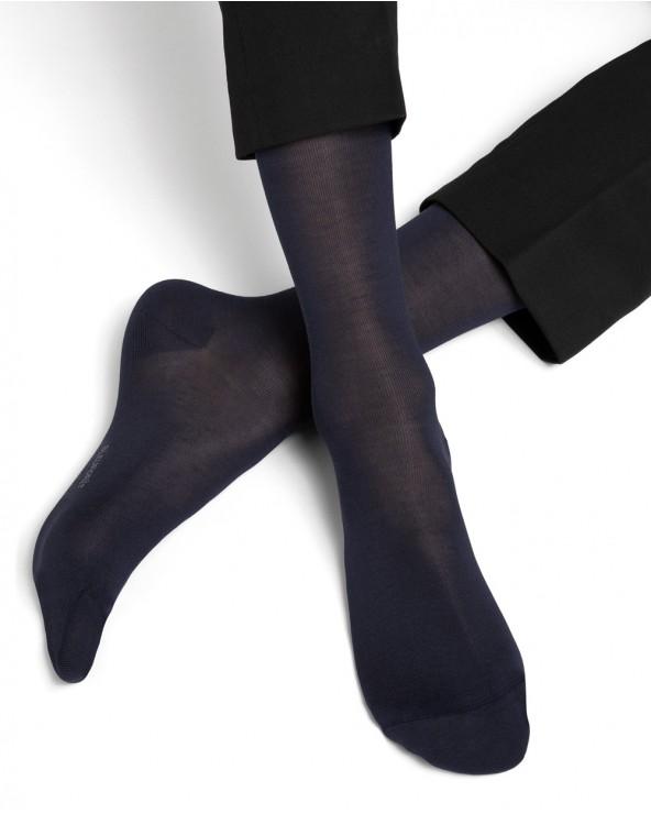 Plain silk and cotton socks