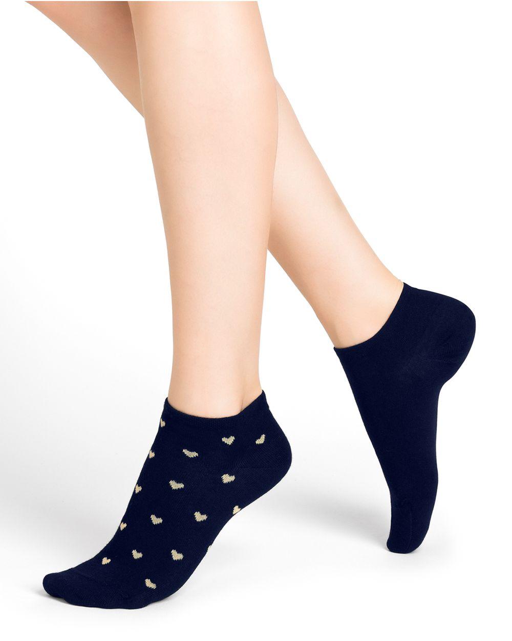 Heart pattern cotton ankle socks